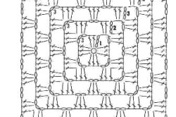 Схема чехла для табурета