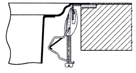 Схема стандартного крепления мойки к столешнице