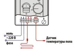 Схема подключения кабельного теплого пола