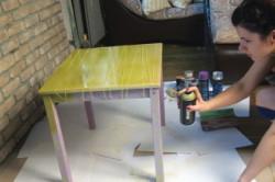 Работа со столом