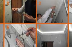 Этапы монтажа светодиодной ленты