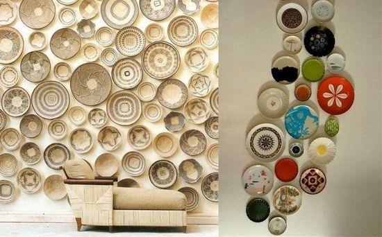 Дизайнерские тарелки в интерьере
