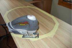 Вырезание проема для установки мойки