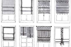 Варианты оформления окна шторами