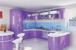 Кухня в фиолетовых оттенках