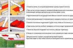 Схема поклейки обоев на потолок