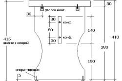 Схема боковой детали фигурной табуретки