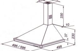 Размеры типовой вытяжки для кухни