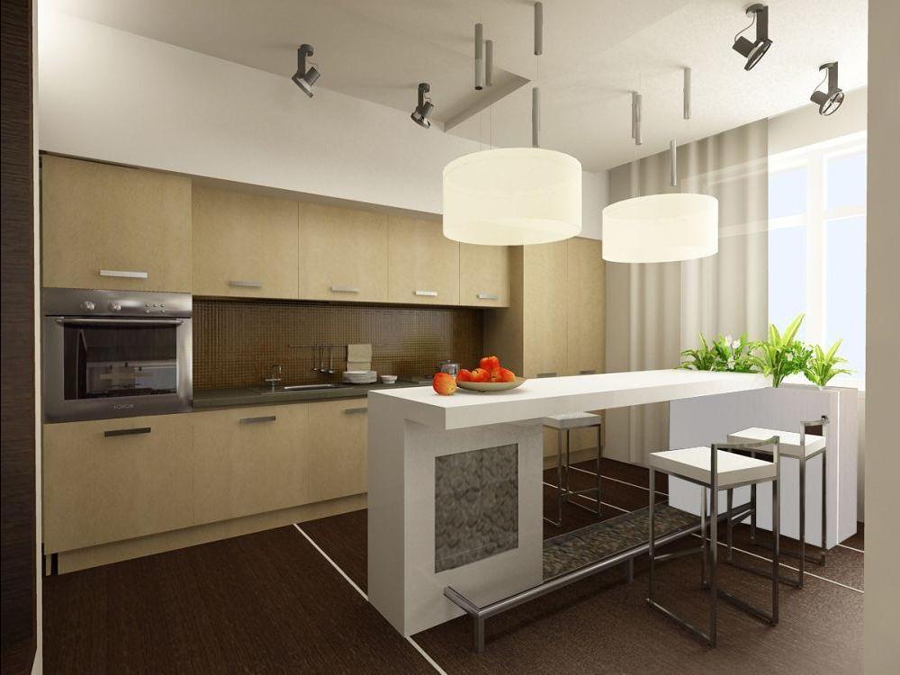 Пример кухни в стиле модерн