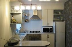 Освещение на маленькой кухне