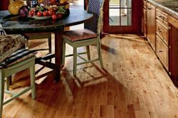 Пример деревянного пола на кухне