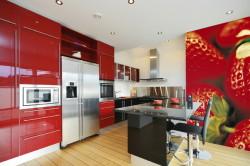Фотообои на кухне как элемент декора