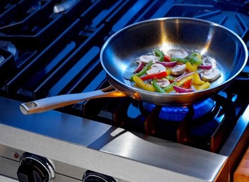 Приготовление пищи на газовой плите