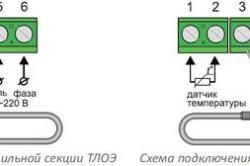 Варианты подключения электрического теплого пола