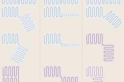 Схемы укладки нагревательных матов электрического теплого пола в различных направлениях