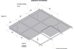 Схема монтажа кассетного потолка