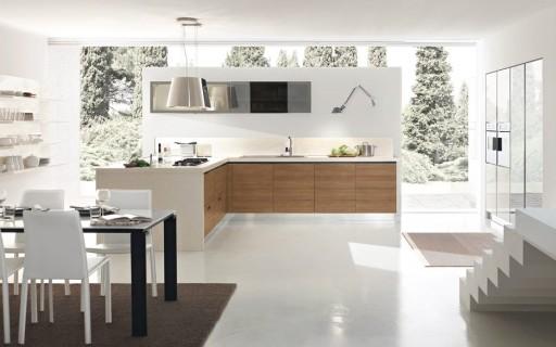 Дизайн  обоев в интерьере кухни