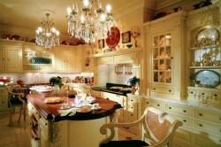 Пример люстры для кухни в классическом стиле