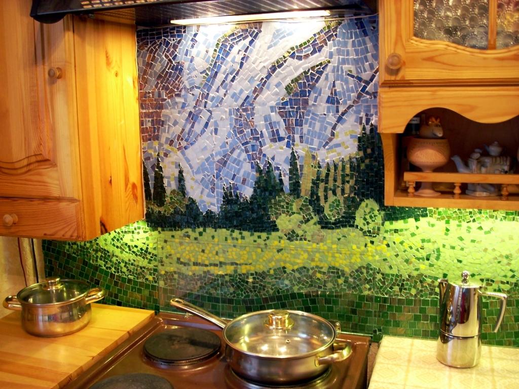 Пример мозайки на кухне