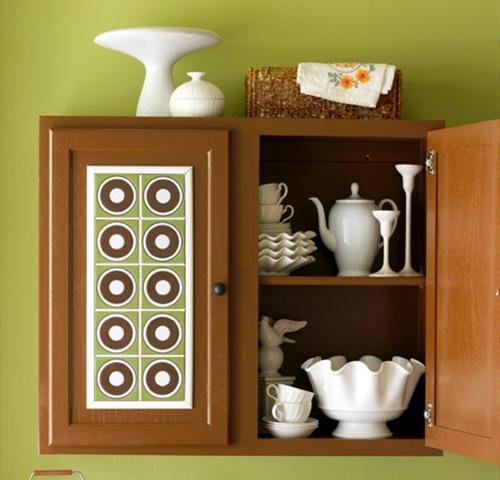 Декорирование шкафа керамической плиткой