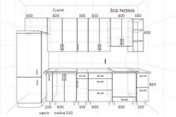 Проект кухни с размерами