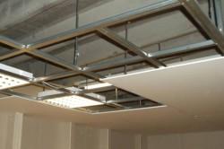 Отделка потолка гипсокартонными листами