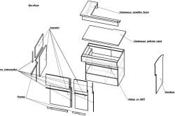 Пример взрыв-схемы модуля барной стойки
