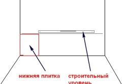 Разметка стены для укладки плитки
