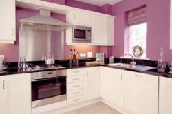 Кухня с окрашенными стенами