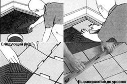 Схема укладки керамической плитки на пол