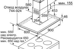 Схема установки вытяжки на кухне