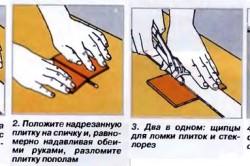 Резка керамический плитки