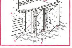 Конструкция холодильника под подоконником