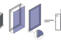 Схема фасада из метакрилового стекла для кухни