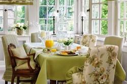 Сочетание стиля кухни и текстиля