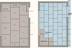 Схема укладки листов покрытия