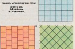 Варианты укладки плитки на стену