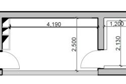 План кухни с балконом