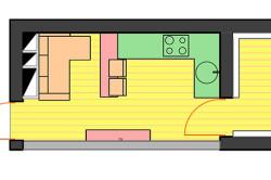 Схема кухни совмещенной с балконом
