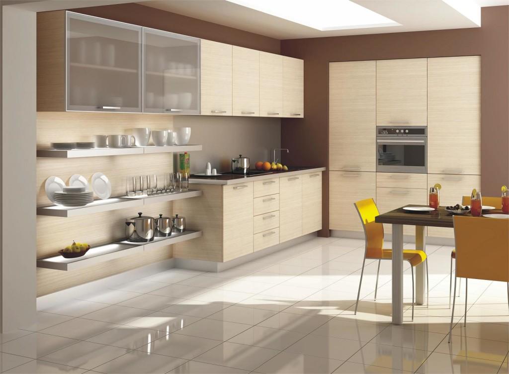 Бежевый кухонный гарнитур