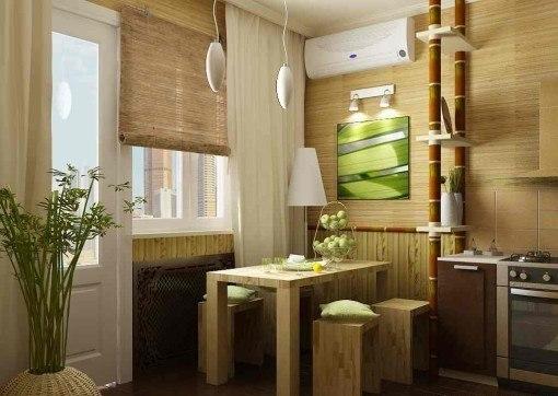 Дизайн интерьера 9-метровой кухни.