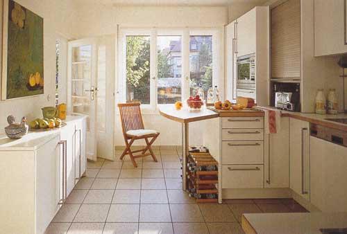 Плиточные полы на кухне